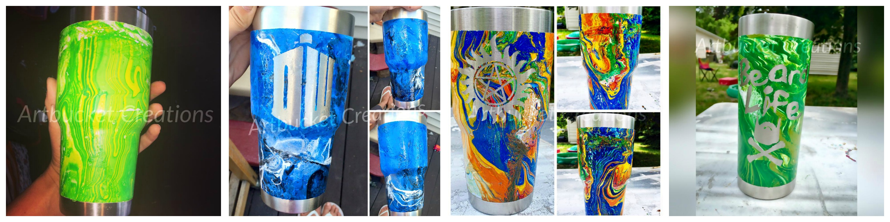 Beautiful Painted Tumblers Tutorial – Crafting While Adulting