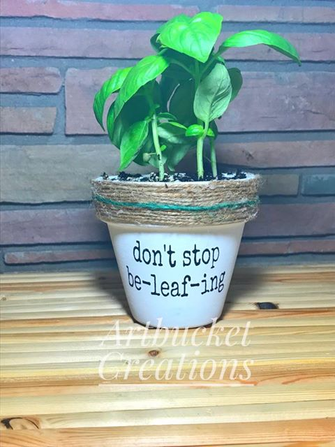 Diy Punny Painted Pots Crafting While Adulting