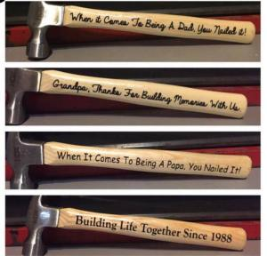 Make Your Own Custom Fathers Day Hammers Wood Burning